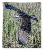 Osprey Flying  Fleece Blanket