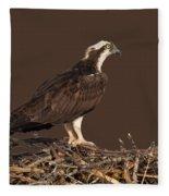 Osprey In Nest Fleece Blanket