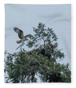 Osprey Reinforcing Its Nest 2017 Fleece Blanket