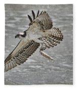 Osprey With Breakfast Fleece Blanket