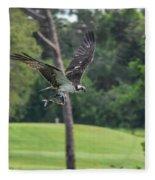 Osprey With Catch Fleece Blanket