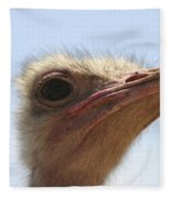 Ostrich Head Close Up Fleece Blanket