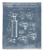 Otoscope Patent 1927 Blue Grunge Fleece Blanket