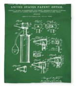 Otoscope Patent 1927 Green Fleece Blanket
