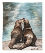 Otter Buddies Fleece Blanket