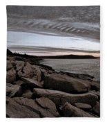 Otter Cliffs Dawn #5 Fleece Blanket