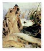 Otter Hounds Fleece Blanket