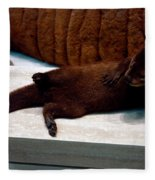 Otter Like It Fleece Blanket