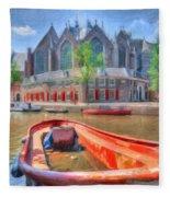 Oude Kerk Fleece Blanket