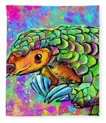 Pangolin Fleece Blanket