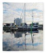 Oulu From The Sea 1  Fleece Blanket