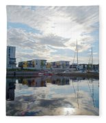 Oulu From The Sea 2 Fleece Blanket