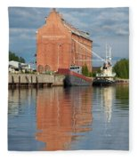 Oulu From The Sea 3 Fleece Blanket
