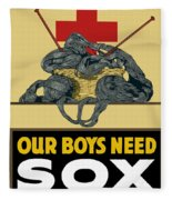 Our Boys Need Sox - Knit Your Bit Fleece Blanket