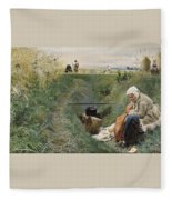 Our Daily Bread Anders Zorn Fleece Blanket