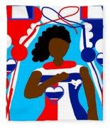Our Flag Of Freedom 3 Fleece Blanket