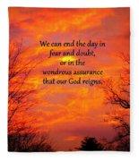 Our God Reigns Fleece Blanket