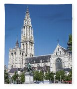 Our Lady Cathedral Antwerp Fleece Blanket