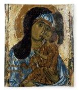 Our Lady Of Tenderness Fleece Blanket