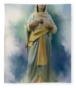Our Lady Of The Immaculate Heart Fleece Blanket