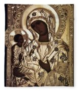 Our Lady Of Yevsemanisk Fleece Blanket