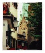 Our Ladys Minster Church In Zurich Switzerland Fleece Blanket