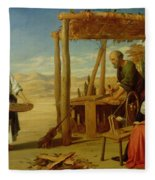 Our Saviour Subject To His Parents At Nazareth Fleece Blanket