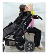 Out Of The Baby Stroller -- A Mother And Daughter Fleece Blanket