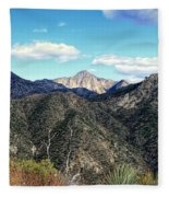 Out Of The Shadows - Angeles Crest Highway Fleece Blanket