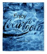 Out Of This World Coca Cola Blues Fleece Blanket