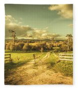 Outback Country Paddock Fleece Blanket