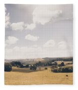 Outback Ridgley In Scenic Tasmania, Australia Fleece Blanket