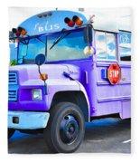 Outer Banks University Bus 2 Fleece Blanket