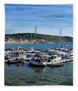 Outer Harbour - Lyme Regis Fleece Blanket