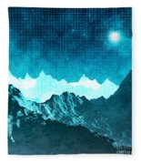 Outer Space Mountains Fleece Blanket