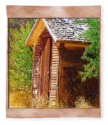 Outhouse 1 Fleece Blanket