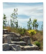 Outlook Hill, Governors Island Fleece Blanket