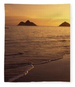 Outrigger Canoe Paddlers Fleece Blanket