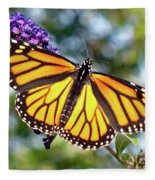 Outstretched Monarch Fleece Blanket