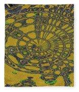 Oval Abstract Maple Leaf  Fleece Blanket
