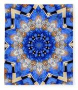 Ovarian Cancer Awareness Mandala Fleece Blanket