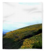 Over Hill And Dale Fleece Blanket
