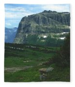 Over Logan's Pass Fleece Blanket