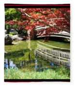 Over Springtime Pond Fleece Blanket