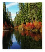 Over The Mountains And Thru The Trees Fleece Blanket