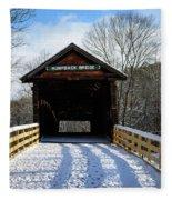Over The River And Through The Bridge Fleece Blanket
