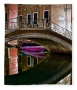 Over The River And Through The Buildings Fleece Blanket
