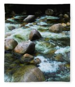 Over The Boulders - Mossman Gorge, Far North Queensland, Australia Fleece Blanket