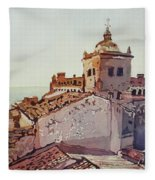 Over The Rooftops, Caceres Fleece Blanket