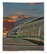 Over The Shoulder F-84g Fleece Blanket